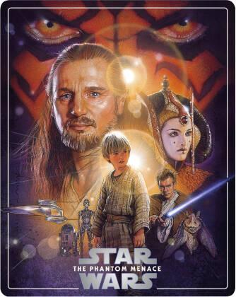 Star Wars - Episode 1 - La menace fantôme / The Phantom Menace (1999) (Limited Edition, Steelbook, 4K Ultra HD + 2 Blu-rays)