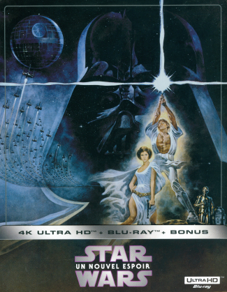 Star Wars - Episode 4 - Un nouvel espoir / A New Hope (1977) (Limited Edition, Steelbook, 4K Ultra HD + 2 Blu-rays)