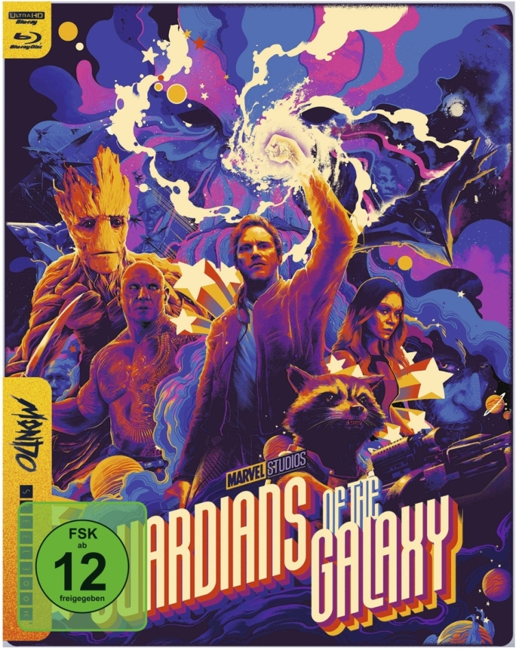Guardians of the Galaxy (2014) (Mondo, Limited Edition, Steelbook, 4K Ultra HD + Blu-ray)