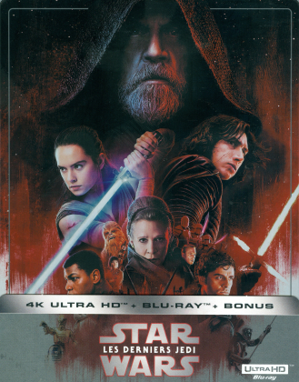 Star Wars - Episode 8 - Les derniers Jedi / The Last Jedi (2017) (Limited Edition, Steelbook, 4K Ultra HD + 2 Blu-rays)