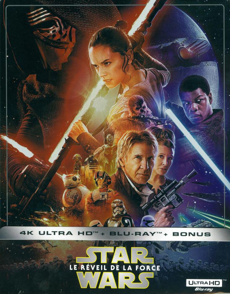 Star Wars - Episode 7 - Le réveil de la Force / The Force Awakens (2015) (Limited Edition, Steelbook, 4K Ultra HD + 2 Blu-rays)