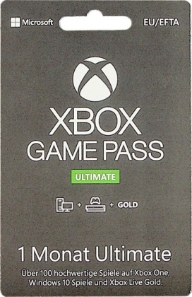 XBOX Live Card 1 Monat Ultimate GOLD inkl. Gamepass