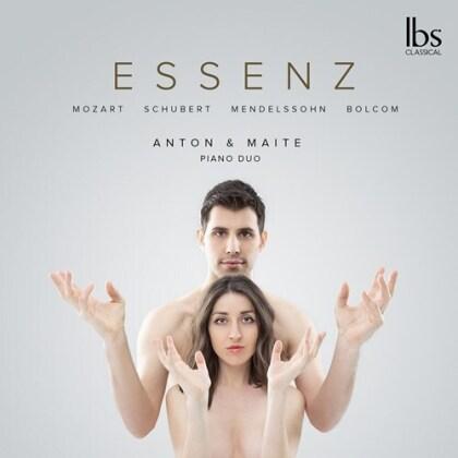 Anton & Maite Piano Duo, Wolfgang Amadeus Mozart (1756-1791), Franz Schubert (1797-1828), Felix Mendelssohn-Bartholdy (1809-1847) & William Bolcom (*1938) - Essenz