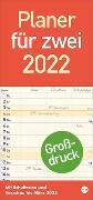 Großdruck Planer für zwei 2022