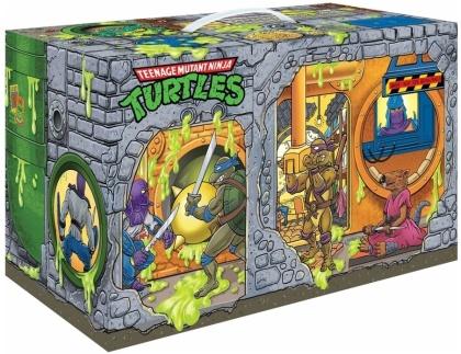 Playmates: Teenage Mutant Ninja Turtles - TMNT Retro Rotocast Sewer Lair Px 6PC Action Figure Set