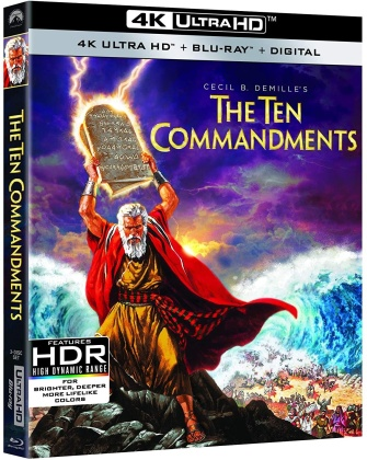 The Ten Commandments (1956) (4K Ultra HD + 2 Blu-rays)