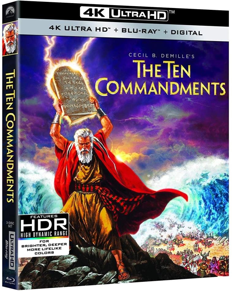 The Ten Commandments (1956) (4K Ultra HD + 2 Blu-rays)