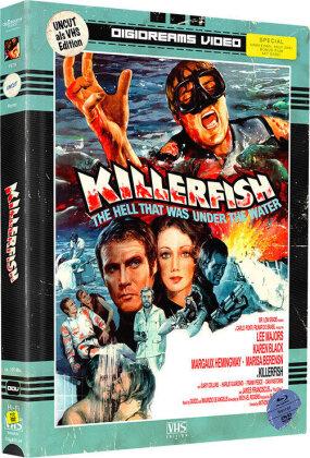 Killerfish / Blutige Seide (VHS-Edition, Mediabook, Uncut, Blu-ray + DVD)