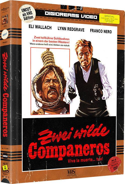 Zwei wilde Companeros / Lasst uns töten, Companeros (VHS-Edition, Edizione Limitata, Mediabook, Uncut, Blu-ray + DVD)