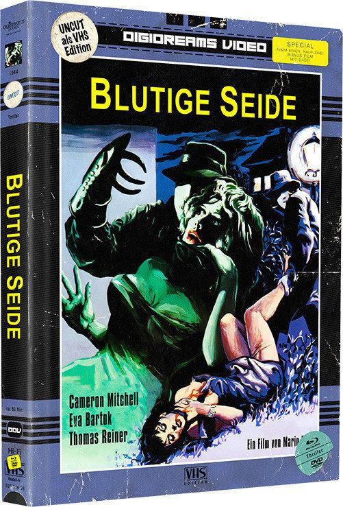 Blutige Seide / Killerfish (VHS-Edition, Edizione Limitata, Mediabook, Uncut, Blu-ray + DVD)