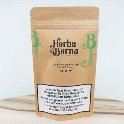 Herba di Berna Remedy Kush (10g) - Greenhouse (CBD: 15% THC 0.56%%)