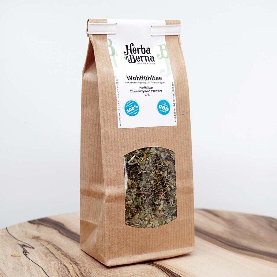 Herba di Berna Wohlfühltee 50g - CBD-Tee mit Verveine und Zitronenthymian