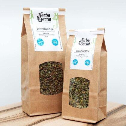 Herba di Berna Wohlfühltee 100g - CBD-Tee mit Verveine und Zitronenthymian