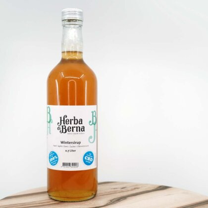 Herba di Berna Wintersirup in der Flasche 7dl - CBD-Sirup mit Bio-Apfelsaft und Zimt