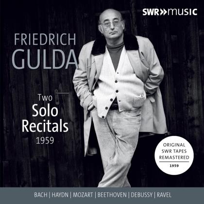 Johann Sebastian Bach (1685-1750), Joseph Haydn (1732-1809), Wolfgang Amadeus Mozart (1756-1791), Ludwig van Beethoven (1770-1827), Claude Debussy (1862-1918), … - Two Solo Recitals 1959 (3 CDs)