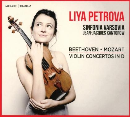 Ludwig van Beethoven (1770-1827), Wolfgang Amadeus Mozart (1756-1791), Jean-Jacques Kantorow, Liya Petrova & Sinfonia Varsovia - Violin Concertos in D