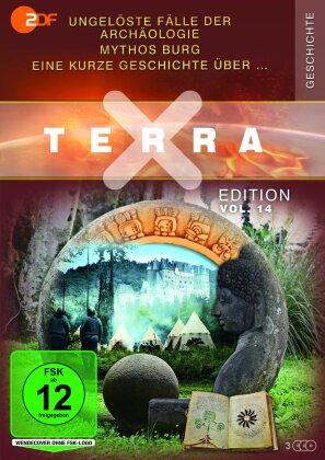 Terra X Edition - Vol. 14 - Ungelöste Fälle der Archäologie / Eine kurze Geschichte über … / Mythos Burg [3 DVDs] (3 DVDs)
