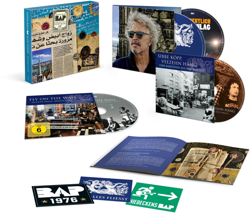 Niedeckens BAP - Alles Fliesst (Geburtstagsedition, Deluxe Edition, Limited Edition, 3 CDs + DVD)
