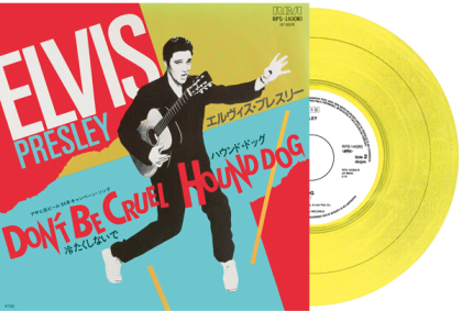 "Elvis Presley - Don't Be Cruel / Hound Dog (Japan Edition, 2021 Reissue, Yellow Vinyl, 7"" Single)"