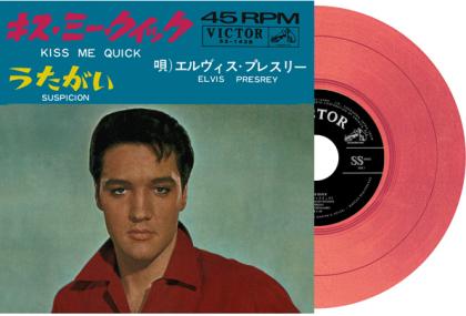 """Elvis Presley - Kiss Me Quick / Suspicion (2021 Reissue, Japan Edition, Red Vinyl, 7"""" Single)"""