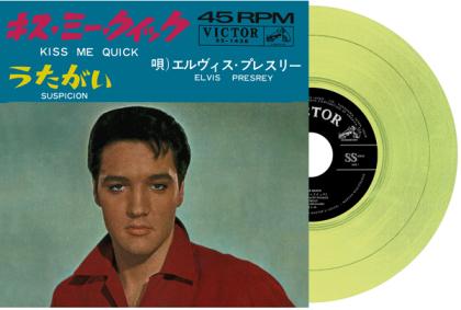 "Elvis Presley - Kiss Me Quick / Suspicion (2021 Reissue, Japan Edition, Yellow Vinyl, 7"" Single)"