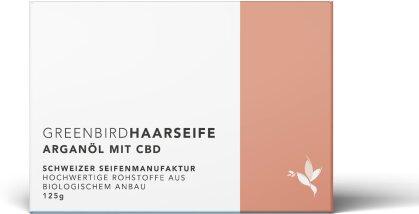 Greenbird Haarseife - Arganöl (125g, 100mg CBD)