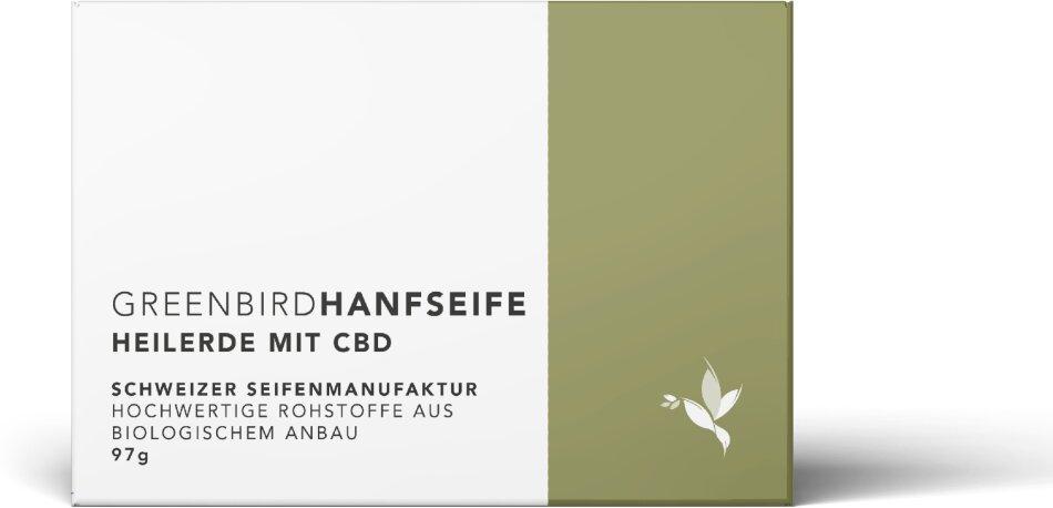 Greenbird Hanfseife - Heilerde (97g, 90mg CBD)
