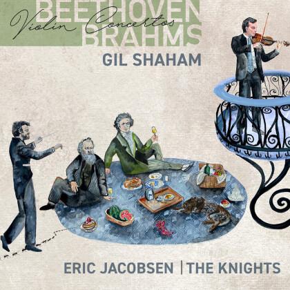 Ludwig van Beethoven (1770-1827), Johannes Brahms (1833-1897), Eric Jacobsen, Gil Shaham & The Knights - Violin Concertos
