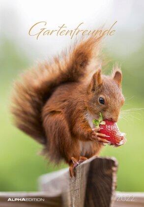 Gartenfreunde 2022 - Bild-Kalender 24x34 cm - Garden Friends - Wandkalender - mit Platz für Notizen - Alpha Edition