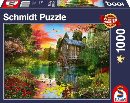 Die Wassermühle - 1000 Teile Puzzle