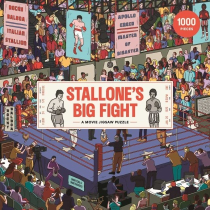 Stallone's Big Fight - 1000 Piece Jigsaw Puzzle