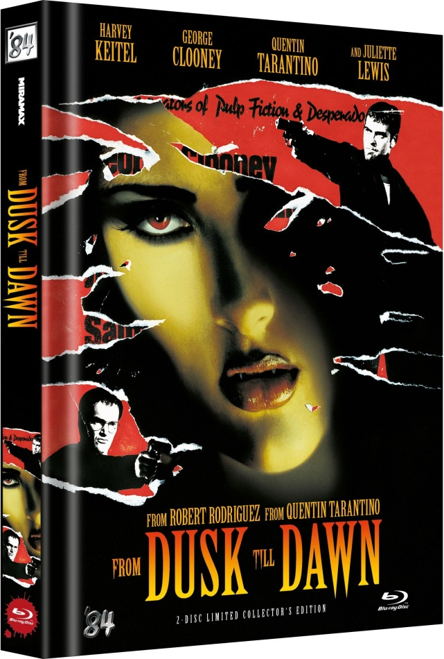 From dusk till dawn (1996) (Cover B, Limited Collector's Edition, Mediabook, Uncut, 2 Blu-rays)