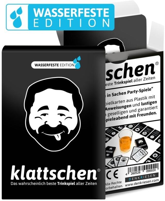 """klattschen® - H2O (Wasserfeste Edition) - """"Das wahrscheinlich beste Trinkspiel aller Zeiten"""""""