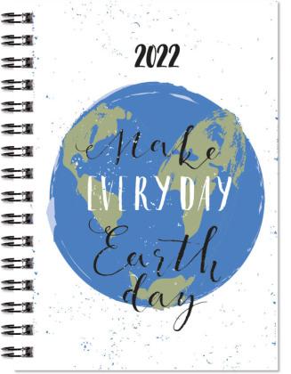 Taschenkalender 2022 - Make Everyday Earth Day - Bürokalender 10x14 cm - 1 Woche auf 2 Seiten - Wochenkalender - robuster Kartoneinband - 638-1140