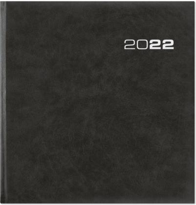 Wochenbuch Sekretär 2022 - Bürokalender 20x21 cm - Farbe: anthrazit - 1 Woche auf 2 Seiten - mit Eckperforation - Buchkalender - 786-0021
