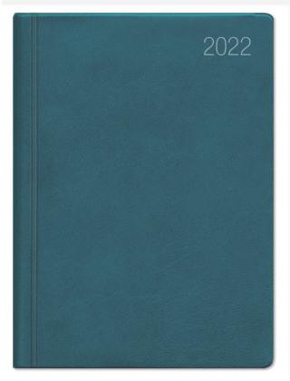 Taschenkalender türkis 2022 - Bürokalender 10,2x14,2 - 1 Woche auf 2 Seiten - flexibler Kunststoffeinband - Notizheft - Wochenkalender - 640-1013