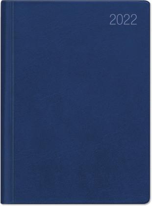 Taschenkalender blau 2022 - Bürokalender 10,2x14,2 - 1 Woche auf 2 Seiten - flexibler Kunststoffeinband - Notizheft - Wochenkalender - 640-1015