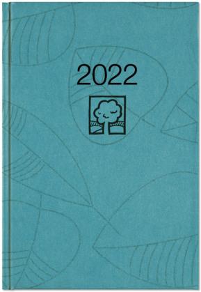 Wochenbuch türkis 2022 - Bürokalender 14,6x21 cm - 1 Woche auf 2 Seiten - 128 Seiten - mit Eckperforation - Notizbuch - Blauer Engel - 766-0717