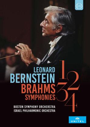 Boston Symphony Orchestra, Israel Philharmonic Orchestra & Leonard Bernstein - Brahms Symphonien Nr. 1-4 (2 DVDs)