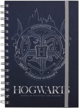 Harry Potter Cobalt Steel Crest A5 Wiro Notebook