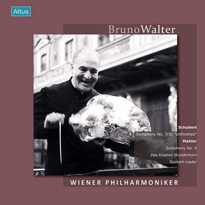 Bruno Walter, Franz Schubert (1797-1828) & Gustav Mahler (1860-1911) - Abschiedskonzert - Symphony No. 7(8), Sinfonie 4, Des Knaben, Rückert L. (Japan Edition, Remastered, 2 LPs)