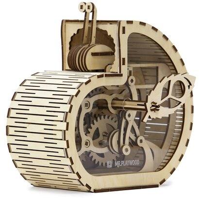 Mechanical 3D wooden puzzle - Snail-moneybox Big - 83 pieces