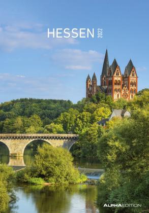 Hessen 2022 - Bild-Kalender 24x34 cm - Regional-Kalender - Wandkalender - mit Platz für Notizen - Alpha Edition