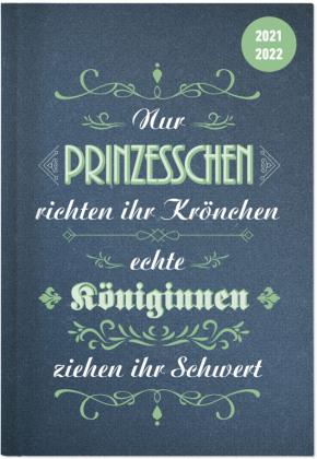 Collegetimer Vintage 2021/2022 - Schüler-Kalender A5 (15x21 cm) - Sprüche - Day By Day - 352 Seiten - Terminplaner - Notizbuch - Alpha Edition