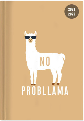 Collegetimer Llama 2021/2022 - Schüler-Kalender A6 (10x15 cm) - Lama - Day By Day - 352 Seiten - Terminplaner - Notizbuch - Alpha Edition