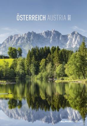 Österreich 2022 - Bild-Kalender 24x34 cm - Austria - Regional-Kalender - Wandkalender - mit Platz für Notizen - Alpha Edition