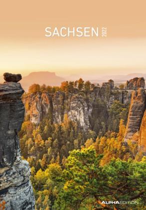 Sachsen 2022 - Bild-Kalender 24x34 cm - Regional-Kalender - Wandkalender - mit Platz für Notizen - Alpha Edition