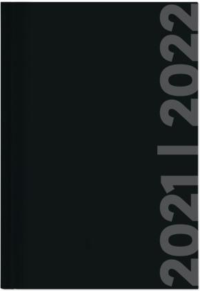 Collegetimer Black Label 2021/2022 - Schüler-Kalender A5 (15x21 cm) - schwarz - Day By Day - 352 Seiten - Terminplaner - Notizbuch - Alpha Edition