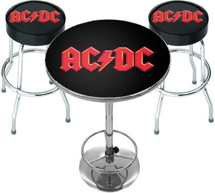 AC/DC - Logo Bar Set (Table & 2 X Bar Stools)