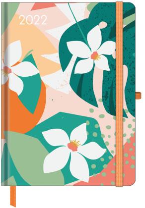 GreenLine Diary Floral 2022 - Buchkalender - Taschenkalender - 16x22